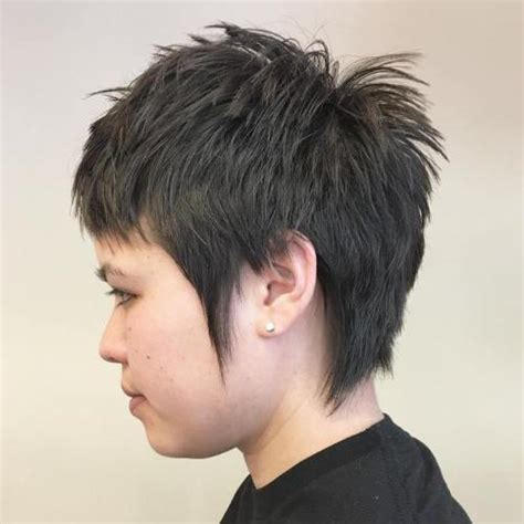 razor cut hairstyle with spiky on top 20 gorgeous razor cut hairstyles for sharp ladies