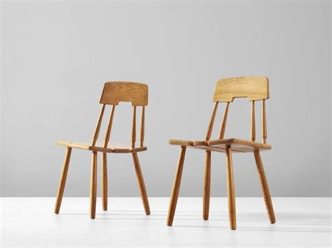 Solid Oak Dining Chairs For Sale Set Of 14 Dining Chairs In Solid Oak For Sale At 1stdibs