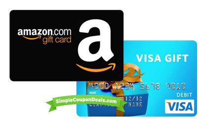 Visa Gift Cards On Amazon - hot free 10 amazon gift card new reward app simple coupon deals