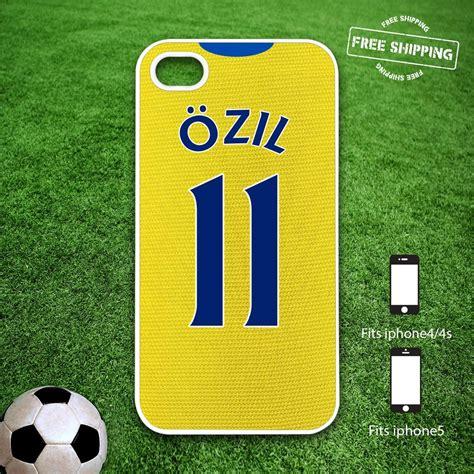 Casing Hardcase Hp Iphone 5 5s Arsenal Fc X4285 arsenal shirt mesut ozil iphone 4 4s iphone 5 custom team white cover ebay