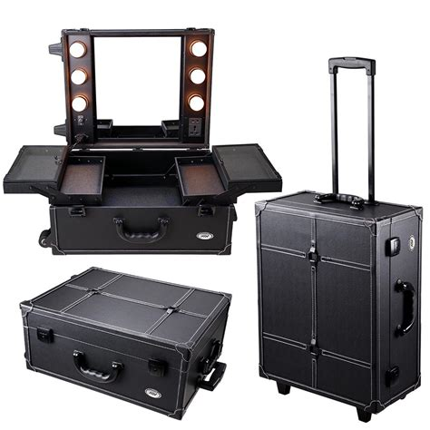 Makeup Cases With Mirrors From Asos by Pro Rolling Studio Makeup Artist Cosmetic W Light