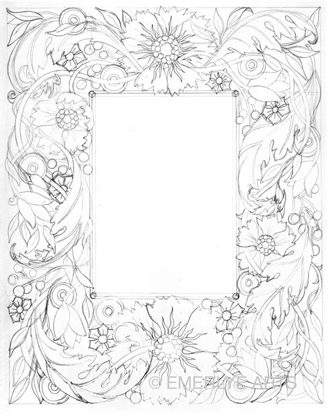 free flower borders for coloring pages