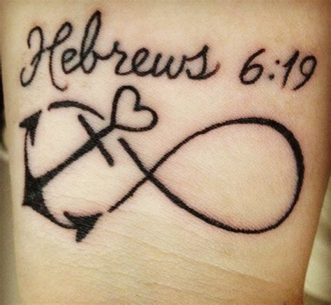 infinity tattoo with bible verse infinity sign with anchor with bible verse www pixshark