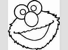 Sesame Street Elmo Face Coloring Page   Wecoloringpage.com Elmo Face Coloring Page