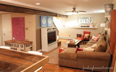 Design For Basement Makeover Ideas Decorating Ideas Basement Family Room Finding Home Farms