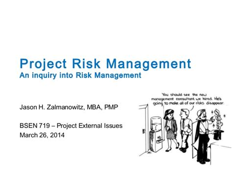 Enterprise Risk Management Mba by Haskayne School Of Business Project Risk Management