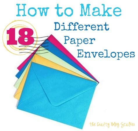 How To Make Paper Envelope - how to make paper envelopes the crafty stalker