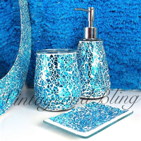 Teal Colored Bathroom Accessories by Teal Blue Bathroom Cthroom Set Bathrrom Accessories Ideas