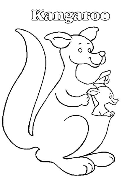 k kangaroo coloring page australia rugby colouring pages
