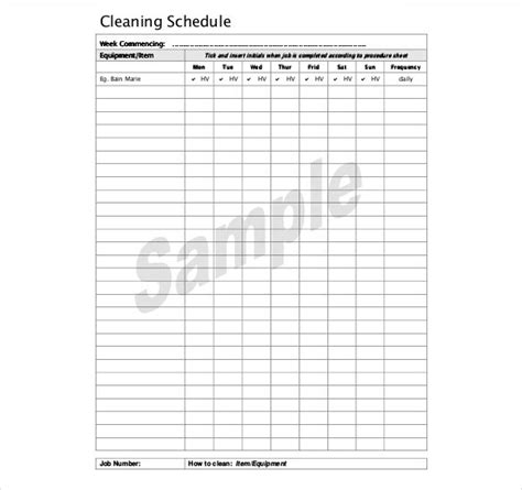 bathroom cleaning schedule search results for master cleaning schedule template
