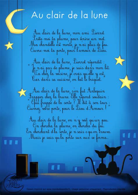 Lalune Id Monde Des Petits Au Clair De La Lune