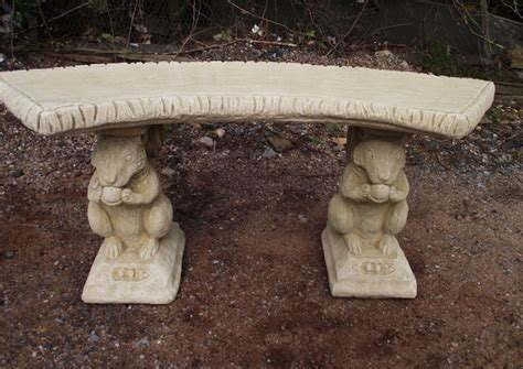 stone top benches stone squirrel bench with curved top stonecraft stourbridge