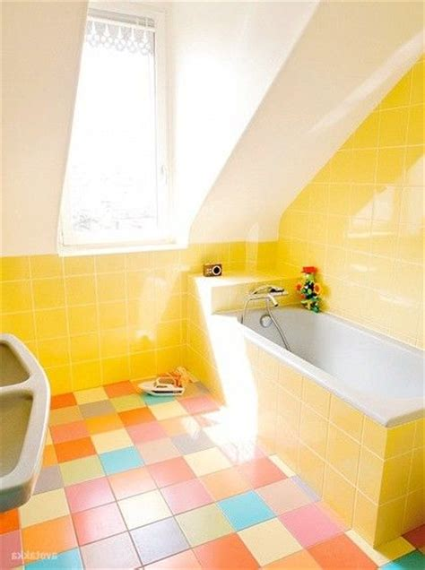 colorful tiles for bathroom 16 best images about lovely yellow bathrooms on pinterest