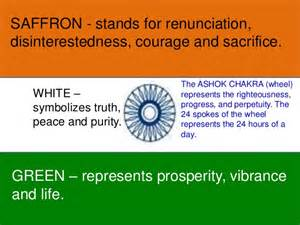 indian flag colors meaning indian literature