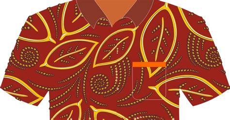 template undangan batik contoh baju batik vector free download vector