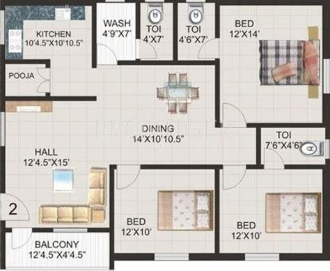 3 bhk apartment floor plan 1500 sq ft 3 bhk floor plan image ramana cyber homes