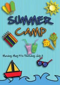 summer camp flyer front 1 best agenda templates