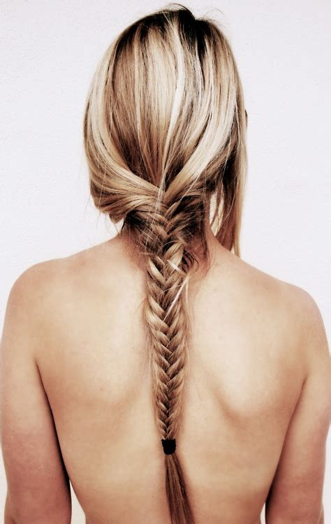 plait at back of hairstyle fish bone braid for long hair back view hairstyles weekly