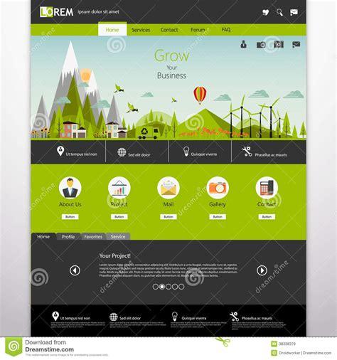 Landscape Design Website Free Modern Eco Website Template With Flat Eco Landscape