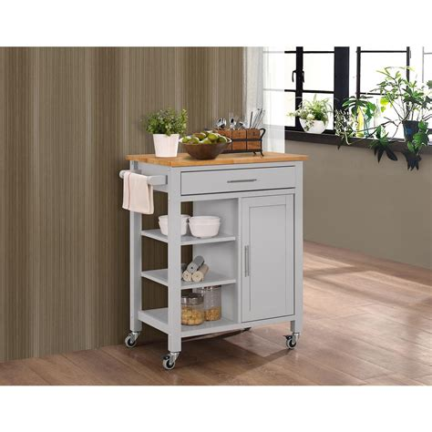 Kitchen Cart Home Outfitters 4d Concepts Gray Kitchen Cart With Storage 43029 The