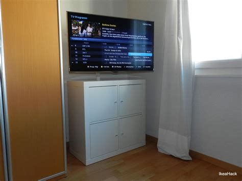 kallax 2x2 expedit kallax beefed up as tv media furniture ikea