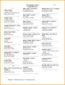 8 church directory template resume reference