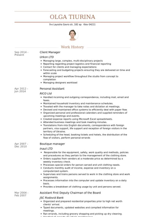 client manager resume sles visualcv resume sles