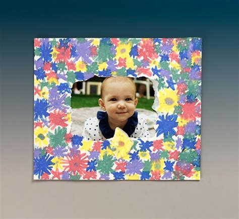 picture frame craft bright borders picture frame craft crayola