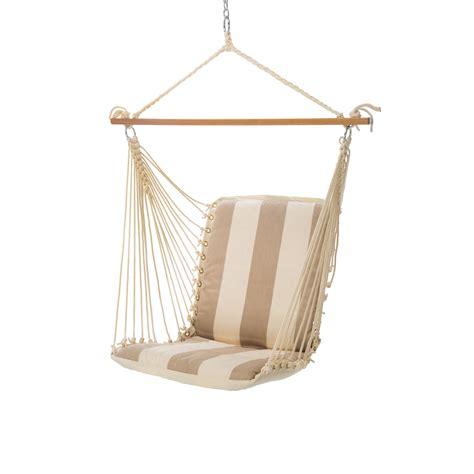 single hammock swing single cushioned swing regency sand srd02 hatteras