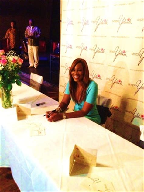 yolanda adams promotes healthy living on the rachael ray the simply yolanda collection launches at grooves houston