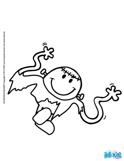 Mr men frankenstein coloring pages - Hellokids.com