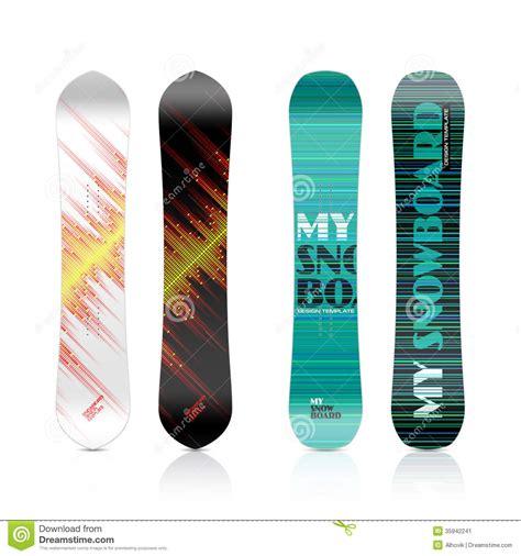 snowboard design template snowboard design stock image image 35942241