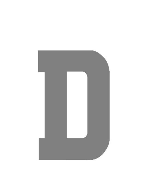 Letter Gray D Silver Grey Number Plate Letter