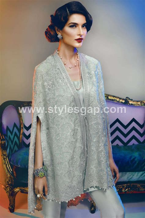 latest outfits latest pakistani cape style dresses 2018 2019 top designer