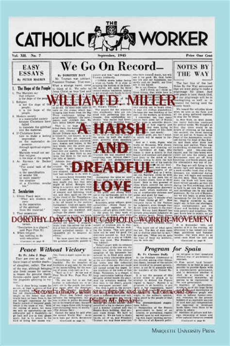 Dorothy Day And The Catholic Worker Movement Centenary Essays by Miller Harsh Dreadful Press Marquette