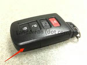 Open Toyota Key Fob Replacing The Battery In Your Toyota Highlander Smart Key