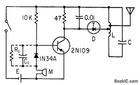 tunnel diode lifier circuit f m wireless mike signal processing circuit diagram seekic