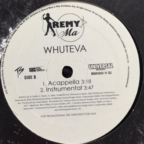 Remy Ma Criminal Record Remy Ma Whuteva 12 Fatman Records
