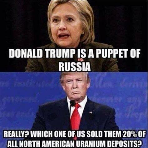 Trump Russia Memes - hillary claims trump is a russian puppet but here s the truth