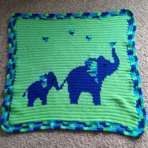 crochet pattern elephant baby blanket pattern mommy baby elephant baby blanket by devotedwoods