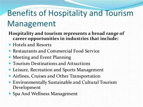 Mba In Tourism And Hospitality Management In India by Hospitality And Tourism Management India