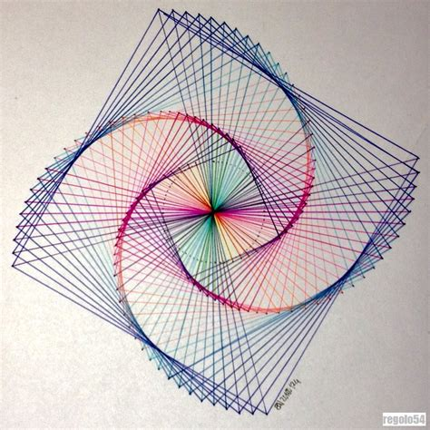 Geometric String Designs - new post on regolo54 intuitive by nature
