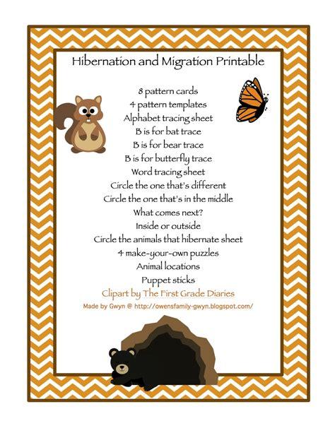 pattern matching in hibernate hibernation migration printable preschool printables