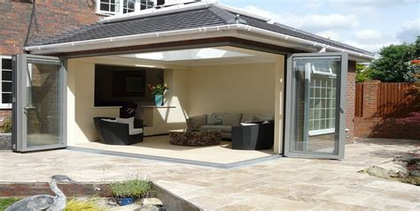 glass panaoramic bi fold doors bifold doors extension conservatories bi