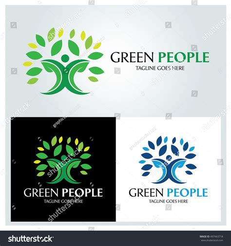 Green People Logo Design Template Tree Stock Vector 497463718 Shutterstock Green Tree Vector Logo Design Template Stock Vector More Images Of 2015 465664290 Istock