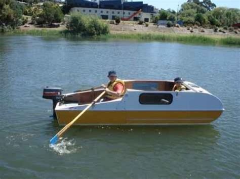 mini y boat diy micro cer that doubles as a micro houseboat