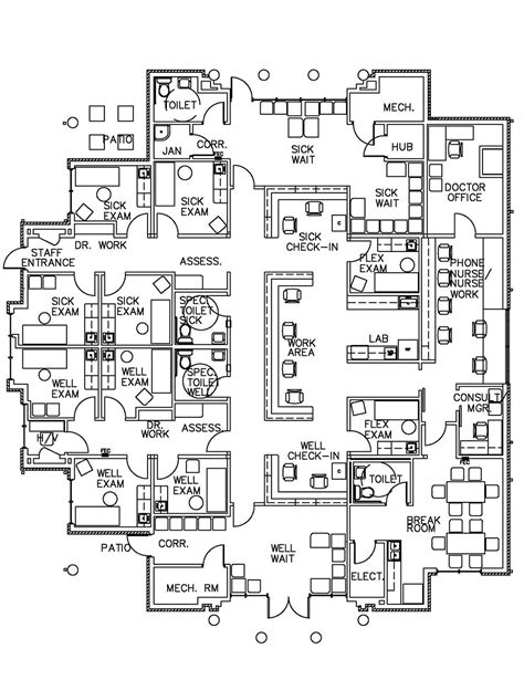medical clinic floor plan design sle before after medical clinic floor plan design sles