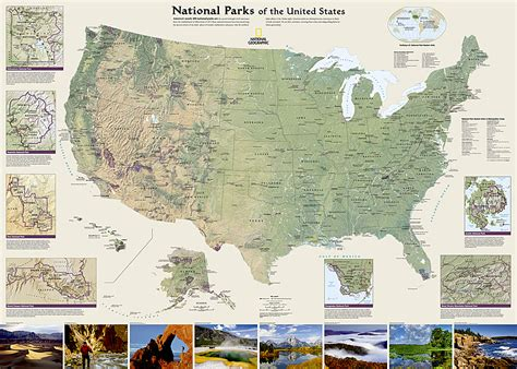 united states map with all national parks national parks of the united states national parks