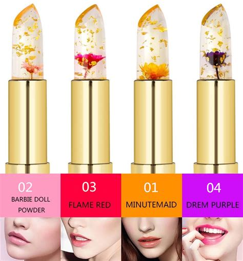 Promo Make Up Kailijumei Flower Jelly Lipstick Lipstik Bunga Gold original kailijumei lipstick color changing magic transparent flower jelly ebay