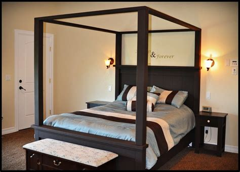 canopy bed plans pdf diy canopy bed plans download blue wood stain